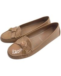 34b33adaa0ea Louis Vuitton Pre-owned Brown Patent Leather Ballet Flats in Brown ...