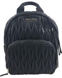 Miu Miu | Pre-owned Matelassé Leather Backpack | Lyst