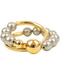 Marni - Gold Metal Bracelets - Lyst