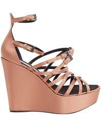 Barbara Bui - Pink Cloth Sandals - Lyst