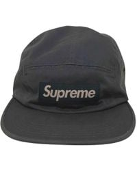 8f0a5bda461 Supreme - Blue Cotton Hats   Pull On Hats - Lyst