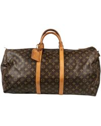 Lyst - Louis Vuitton Keepall Cloth Travel Bag in Brown for Men a207f3986113d