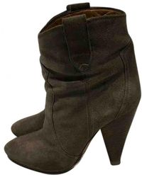 e73d8d40772 Lyst - Étoile Isabel Marant Rawson Suede Ankle Boots in Green