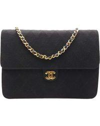 Chanel Timeless Tweed Handbag In Black Lyst