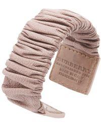 Burberry - Pink Leather Bracelets - Lyst