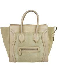 Céline - Luggage Beige Leather Handbag - Lyst