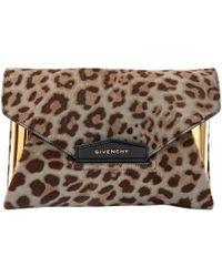 Givenchy - Pre-owned Antigona Pony-style Calfskin Clutch Bag - Lyst