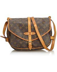 Louis Vuitton - Vintage Saumur Brown Plastic Handbag - Lyst