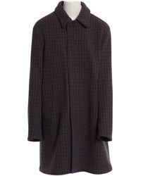 Acne Studios - Navy Wool Coat - Lyst