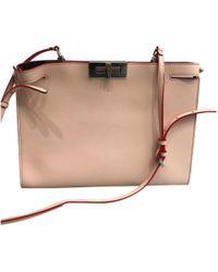 23b09b7726 Lyst - Fendi Micro Peekaboo Shoulder Bag, White, One Size in White