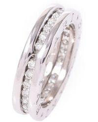 bvlgari preowned bzero1 white gold ring lyst