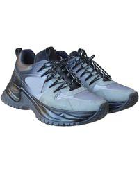 0bae72427a36 Louis Vuitton - Run Away Grey Cloth Trainers - Lyst