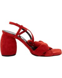7f886047dd1 Lyst - Dries Van Noten Embellished Slingback Sandals Black in Metallic