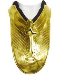 Maison Margiela - Gold Patent Leather T-shirt - Lyst