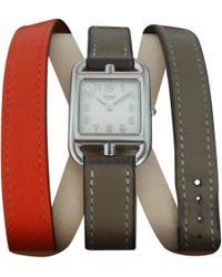 Hermès - Pre-owned Cape Cod Orange Steel Watches - Lyst