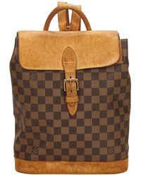 Louis Vuitton - Vintage Brown Cloth Backpacks - Lyst