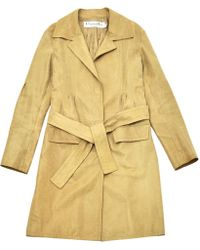 Dior - Pre-owned Vintage Beige Leather Coats - Lyst