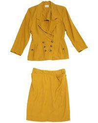 Alaïa - Yellow Viscose Jacket - Lyst