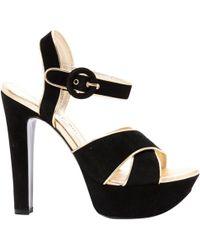 Barbara Bui - Black Suede Sandals - Lyst