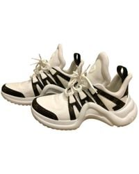 Louis Vuitton - Pre-owned Archlight White Leather Trainers - Lyst