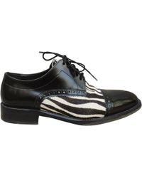The Kooples - Black Pony-style Calfskin Lace Ups - Lyst