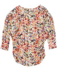 Lanvin - Multicolour Silk Dress - Lyst