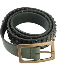 Zadig & Voltaire - Green Leather Belt - Lyst