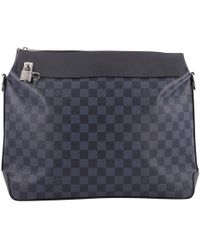 Louis Vuitton Pre-owned Blue Cloth Bag in Blue for Men - Lyst 4d19a158f2116