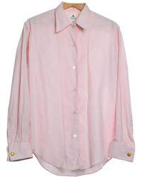 3f043e5776551f Lanvin - Vintage Pink Cotton Top - Lyst
