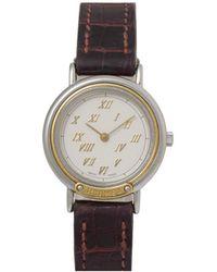 Hermès - Vintage Brown Gold And Steel Watches - Lyst