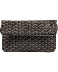 Goyard - Brown Cloth Clutch Bag - Lyst