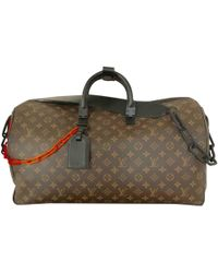 Louis Vuitton Keepall Cloth Weekend Bag in Red for Men - Lyst 3bc117fe2e706
