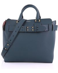 Lyst - Burberry Archive Logo Jersey Shopper Bag in Blue 68fc0be883b8f
