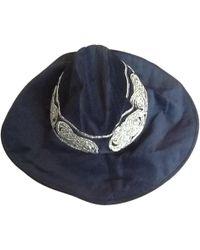 Roberto Cavalli - Pre-owned Black Cotton Hat - Lyst
