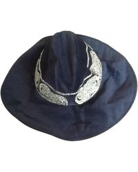 Roberto Cavalli - Pre-owned Black Cotton Hat - Lyst