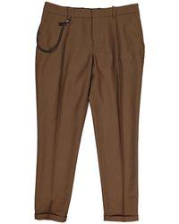 The Kooples - Pre-owned Brown Wool Trousers - Lyst