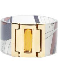 Emilio Pucci - Gold Plastic Bracelet - Lyst