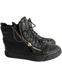 Giuseppe Zanotti - Black Leather Trainers - Lyst