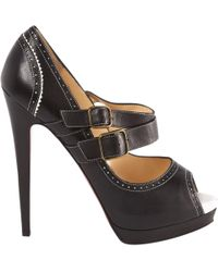 Christian Louboutin - Pre-owned Leather Court Shoes - Lyst