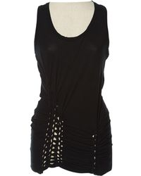 Jean Paul Gaultier - Black Cotton Top - Lyst
