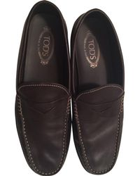 Tod's - Brown Patent Leather Flats - Lyst