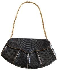 Roberto Cavalli - Navy Exotic Leathers Clutch Bag - Lyst