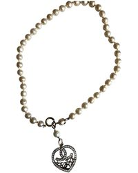 Chanel - Vintage Gold Metal Necklace - Lyst