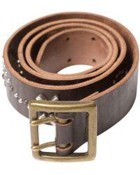 Zadig & Voltaire - Brown Leather Belt - Lyst