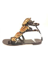 d57697142ed5f Giuseppe Zanotti - Pre-owned Black Patent Leather Sandals - Lyst
