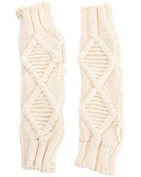 Moncler - Pre-owned Ecru Wool Gloves - Lyst