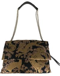 Lanvin - Pre-owned Sugar Gold Cloth Handbags - Lyst