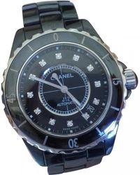 Chanel - J12 Noire Automatique Diamants Ceramic Montre - Lyst