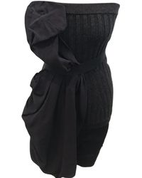 Lanvin - Pre-owned Black Wool Dresses - Lyst