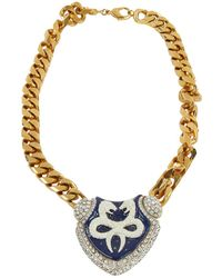 Roberto Cavalli - Multicolour Metal Necklace - Lyst